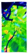 Autumn Leaf Abstract Hand Towel