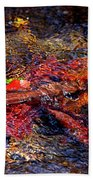 Autumn Leaves Abstract Bath Towel