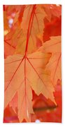 Autumn Leaves Art Prints Orange Fall Leaves Baslee Troutman Bath Towel