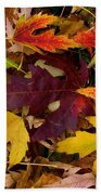 Autumn Leaves Bath Towel