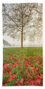 Autumn Leaves Near To Far Super High Resolution Bath Towel