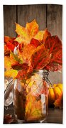 Autumn Leaves Still Life Hand Towel