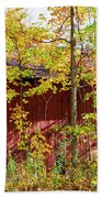 Autumn Michigan Barn  Bath Towel