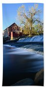 Autumn Mill Portrait Bath Towel