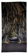 Autumn Morning At Dark Hedges Alley  Hand Towel