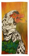 Autumn Muscovy Portrait Bath Towel