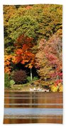 Autumn On Canoe Brook Lake Bath Towel