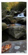 Autumn On Little River In The Smoky Mountains Bath Towel
