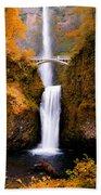 Autumn Orange Multnomah Falls Bath Towel