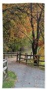 Autumn Path In Park In Maryland Bath Towel