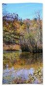 Autumn Pond Bath Towel