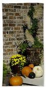 Autumn Porch Scene Bath Towel