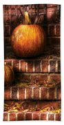 Autumn - Pumpkin - Three Pumpkins Bath Towel