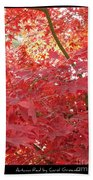 Autumn Red Poster Bath Towel
