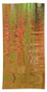 Autumn Reflections Abstract Bath Towel