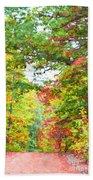Autumn Road - Digital Paint Bath Towel