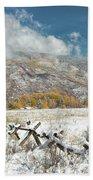 Autumn Snowfall In Aspen Bath Towel
