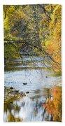 Autumn Stream Reflections Bath Towel