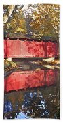 Autumn Sunrise Bridge Bath Towel
