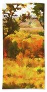 Autumn View, Montelle Winery, Augusta, Missouri Bath Towel