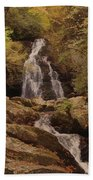 Autumn Waterfall In The Great Smoky Mountains Bath Towel