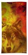 Autumn Wolf Bath Towel