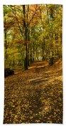 Autumn Woods Bath Towel