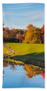 Autumnal Scene Bath Towel
