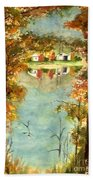 Autumn's Peaceful Abode  Bath Towel