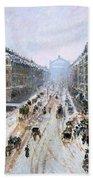 Avenue De L'opera - Effect Of Snow Bath Towel