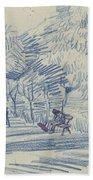Avenue In A Park Arles, May 1888 Vincent Van Gogh 1853 - 1890 Bath Towel
