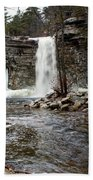 Awosting Falls In January #2 Hand Towel