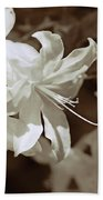 Azalea Flowers In Sepia Brown Bath Towel