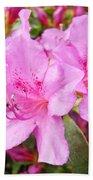 Azalea Garden Art Prints Pink Azaleas Flowers Baslee Troutman Bath Towel