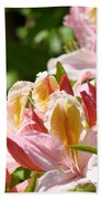 Azaleas Pink Orange Yellow Azalea Flowers 6 Summer Flowers Art Prints Baslee Troutman Bath Towel