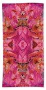Aztec Kaleidoscope - Pattern 009 - Crimson Bath Towel