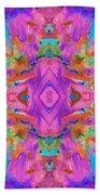 Aztec Kaleidoscope - Pattern 009 Bath Towel