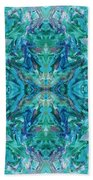 Aztec Kaleidoscope - Pattern 018 - Ocean Bath Towel