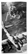 B-17 Bomber Over Germany  Bath Towel