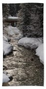 Babbling Brook, Early Spring, Lake Louise, Alberta Bath Towel