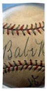 Babe Ruth Baseball. Bath Towel