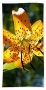 Back-lit Yellow Tiger Lily Bath Towel