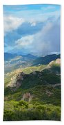 Backbone Trail Santa Monica Mountains Bath Towel