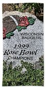 Badger Rose Bowl Win 1999 Bath Towel