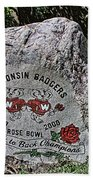 Badgers Rose Bowl Win 2000 Bath Towel