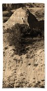 Badlands Sepia Bath Towel