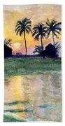 Bahama Palm Trees Hand Towel