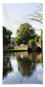 Bakewell Bridge And The River Wye Bath Towel