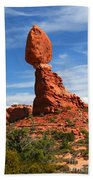 Balanced Rock In Arches National Park, Moab, Utah Bath Towel