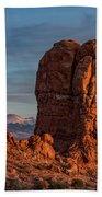 Balanced Rock Sunset Hand Towel